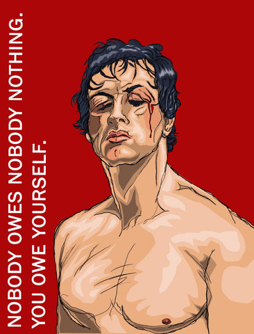 Painting - Sylvester Stallone As Rocky Balboa - Hollywood Collection