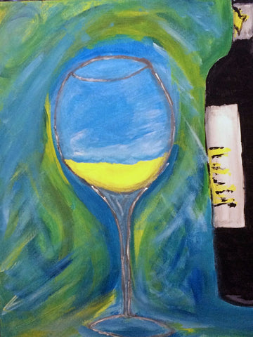Painting - Still Life With Wine - Bar Art by Deepak Tomar