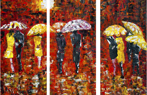 Painting - Umbrellas by Christopher Noel - Art Panels