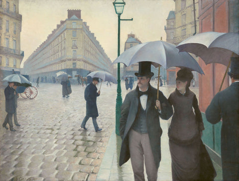 Paris Street in Rainy Weather - Large Art Prints