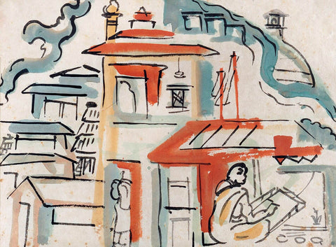 Patna - Benode Behari Mukherjee - Bengal School Indian Painting