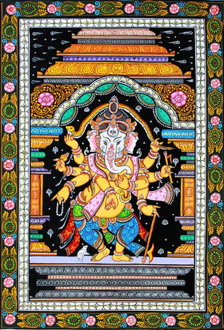 Pattachitra Lord Ganesh Painting