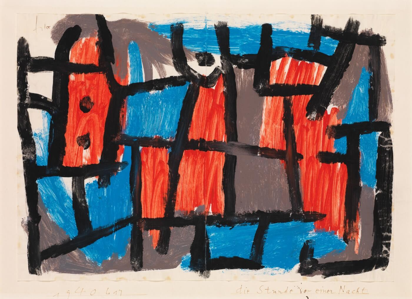 PAUL KLEE Expressionism Surrealism Cubism Poster The Virtue Wagon 1922