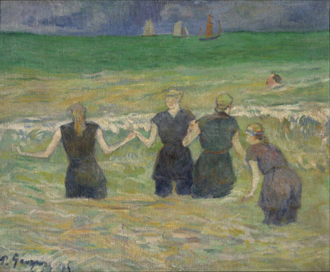 Baigneuses A Dieppe (Women Bathing), 1885