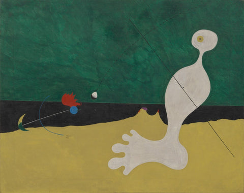 Joan Miro - Person Throwing A Stone At A Bird