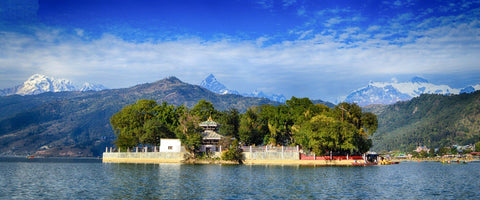 Phewa Lake Pokhara City Nepal
