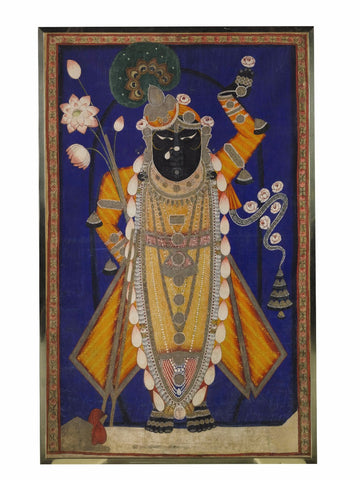 Indian Miniature Art - Pichwai Paintings - Srinathji by Vineeta Randhawa