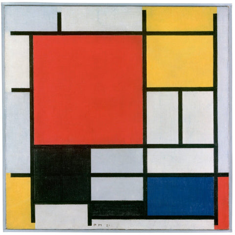 Mondrian, Composition With Red, Yellow, And Blue