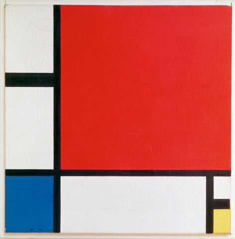 Mondrian, Composition Red, Yellow, Blue by Piet Mondrian
