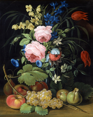 Flowers and Fruit by Pietro Piani