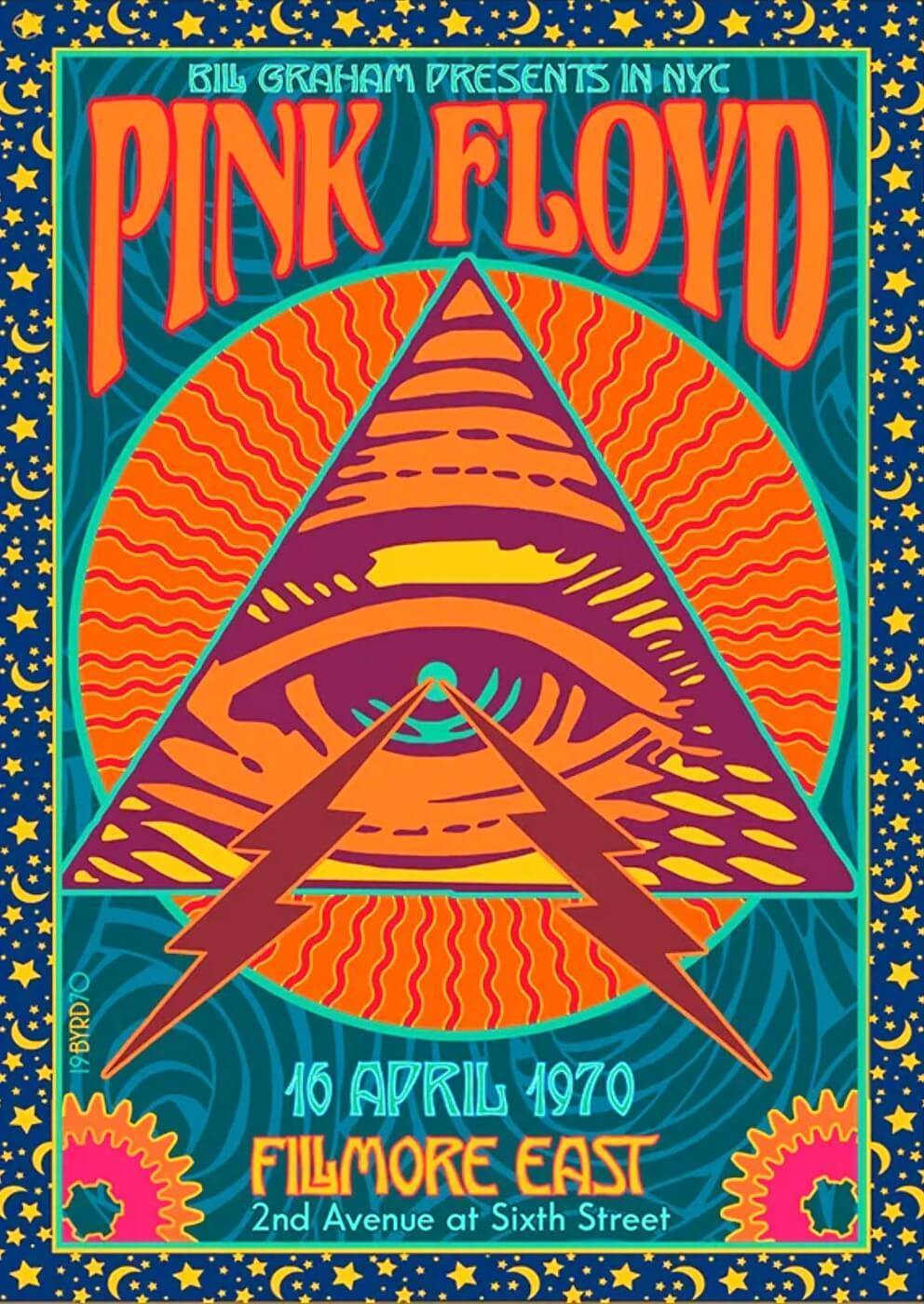 Pink Floyd Live At Fillmore East 1970 Music Concert Poster Tallenge Classic Rock Music Collection Posters By Kenneth Buy Posters Frames Canvas Digital Art Prints Small Compact Medium And Large Variants