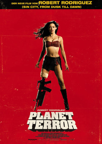 Planet Terror - German Grindhouse Poster - Robert Rodriguez Hollywood Movie Poster