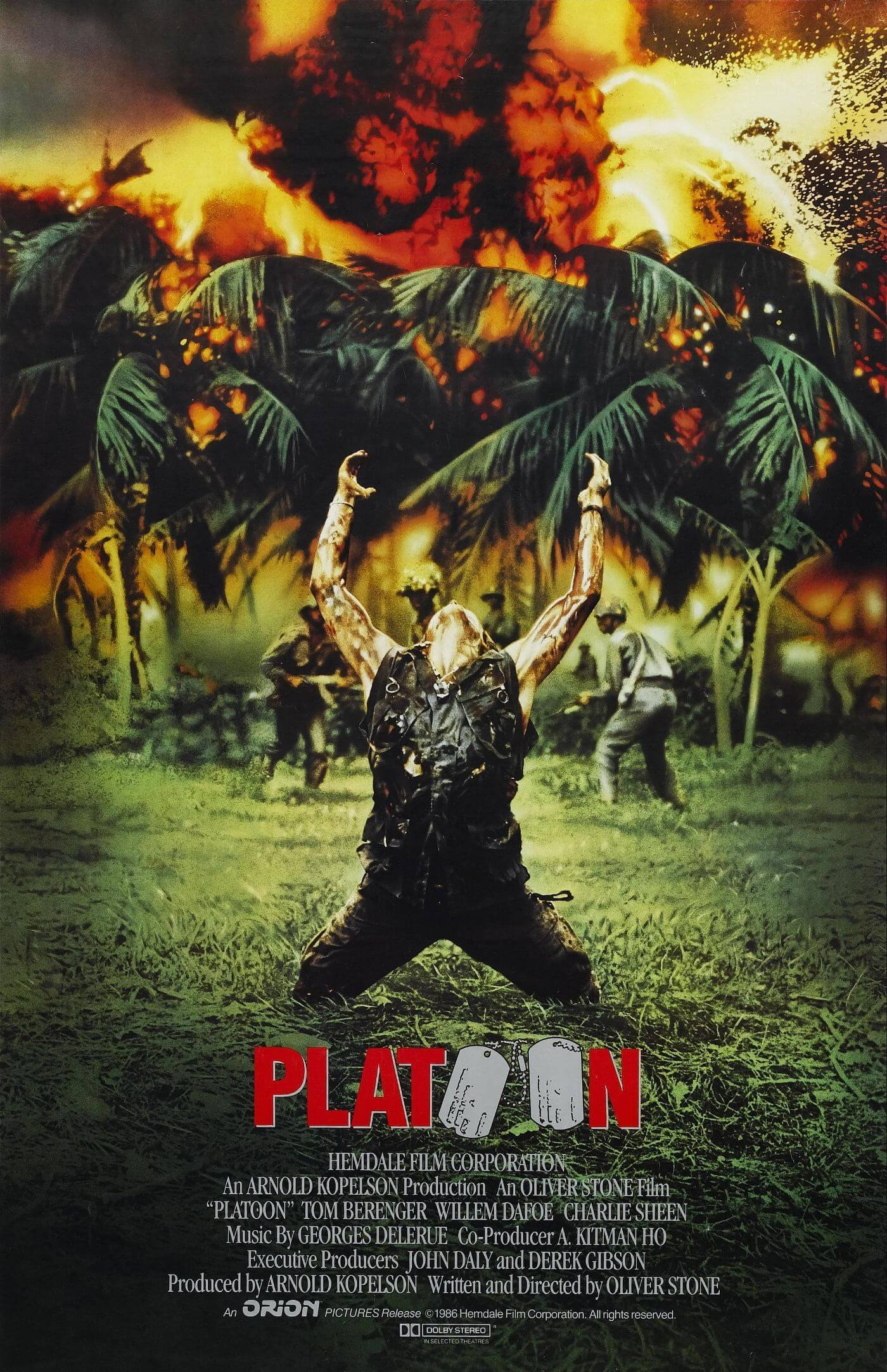 Platoon - Oliver Stone Directed Hollywood Vietnam War Classic - Movie Poster - Large Art Prints
