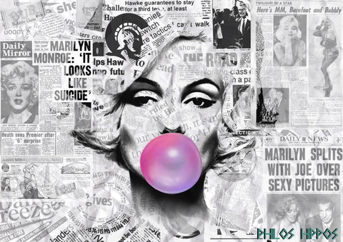 Pop Art - Marilyn Monroe - Bubble