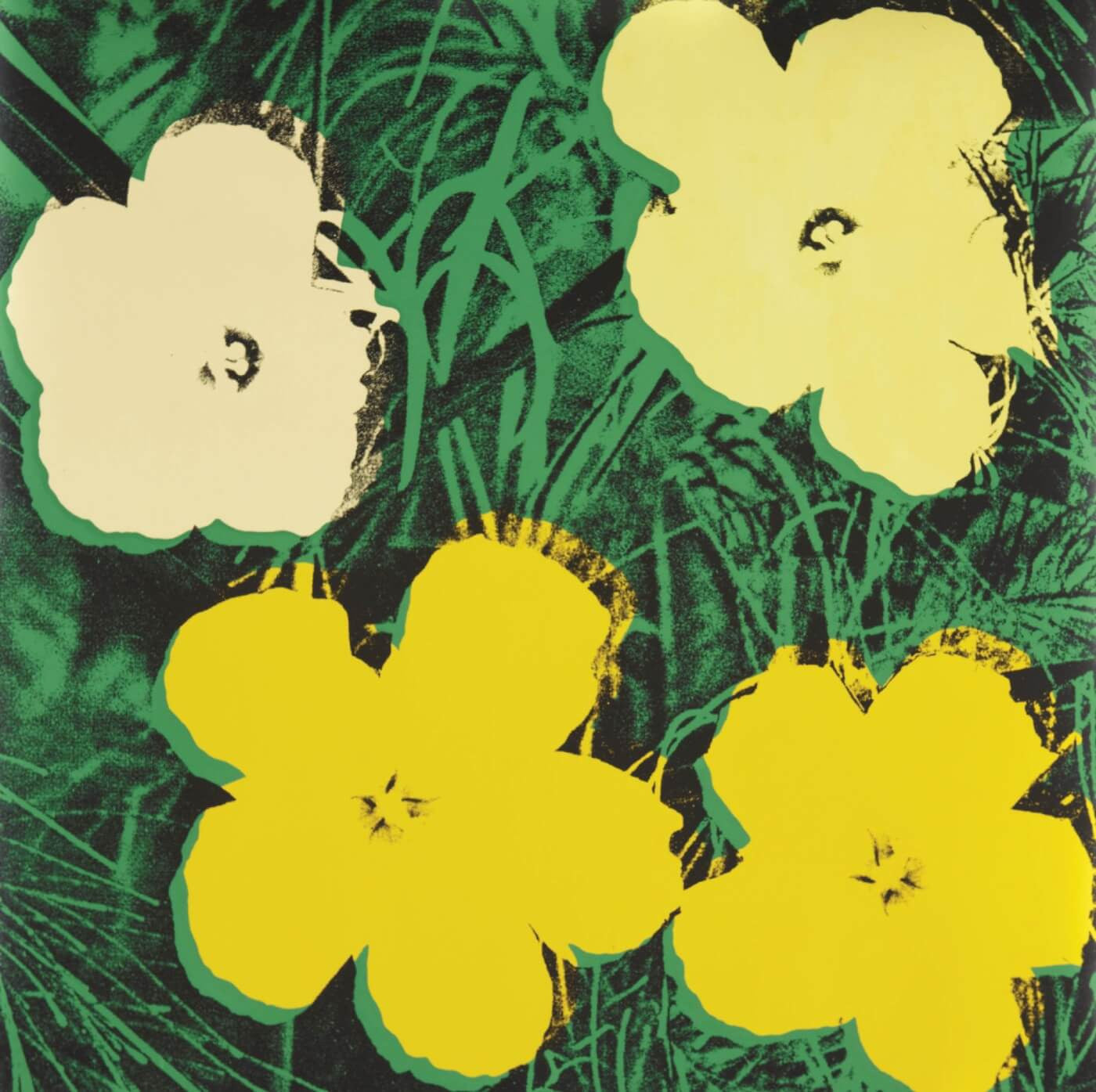 Pop art andy warhol flowers posters