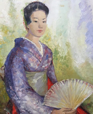 Portrait Of A Japanese Woman - Art Prints