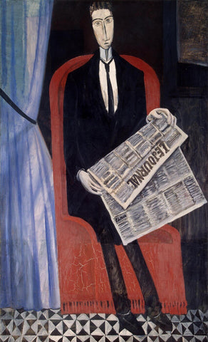 Portrait Of A Man With A Newspaper (Chevalier X) by Andre Derain
