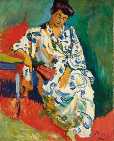 Portrait Of Madame Matisse by Andre Derain