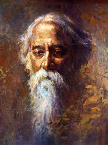Portrait Of Nobel Laureate Rabindranath Tagore