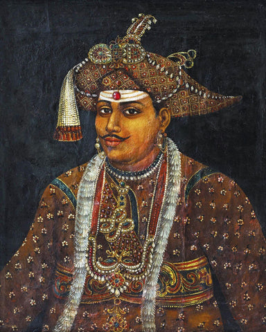 Portrait of Maharaja Serfoji II of Tanjore - Raja Ravi Varma Painting -  Vintage Indian Art by Raja Ravi Varma