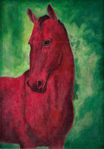 Portrait of Windsor Lad - Race horse of Maharaja of  Rajpipla  - Amrita Sher-Gil by Amrita Sher-Gil