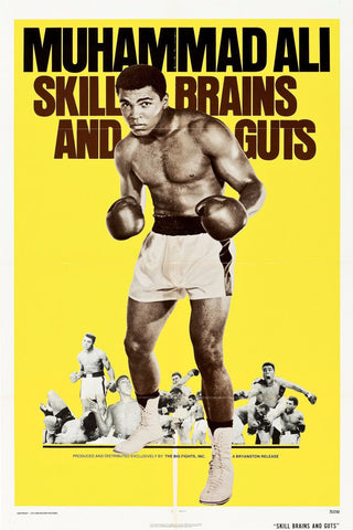 Poster - Muhammad Ali - Skill Brains And Guts - Framed Prints