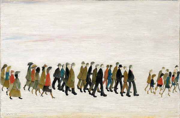 Procession In South Wales - L S Lowry