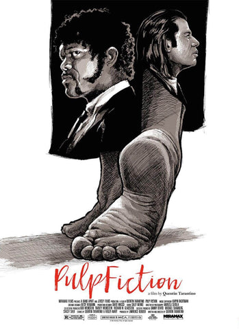 Pulp Fiction - Art - Tallenge Quentin Tarantino Hollywood Movie Poster Collection