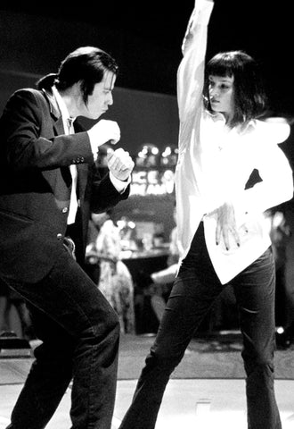 Pulp Fiction - Dance Contest  At Jack Rabbit Slim - Tallenge Quentin Tarantino Hollywood Movie Art Poster Collection