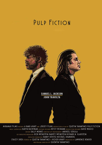 Pulp Fiction - Quentin Tarantino Hollywood Movie Fan Art Poster Collection
