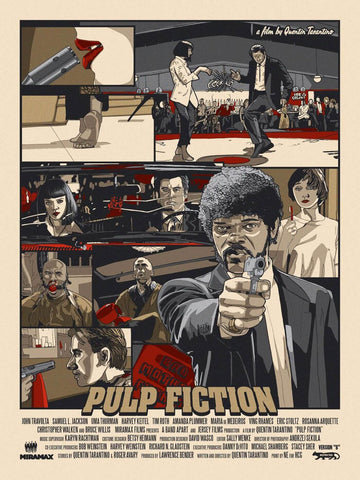 Pulp Fiction - Samuel L Jackson - Tallenge Quentin Tarantino Hollywood Movie Art Poster Collection