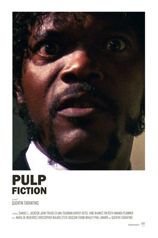 Pulp Fiction - Samuel L Jackson - Tallenge Quentin Tarantino Hollywood Movie Poster Collection