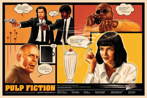 Pulp Fiction - Tallenge Quentin Tarantino Hollywood Movie Art Poster Collection
