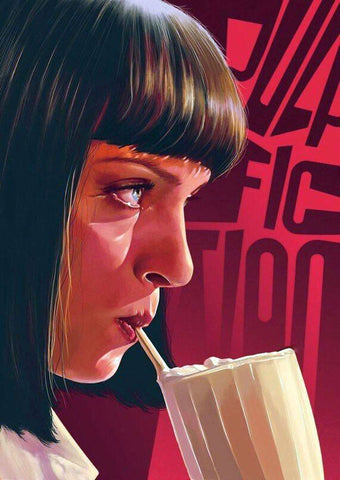 Pulp Fiction - Uma Thurman Mia Wallace -  Quentin Tarantino Hollywood Movie Art Poster Collection