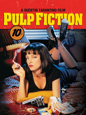 Pulp Fiction - Uma Thurman Mia Wallace -  Quentin Tarantino Hollywood Movie Poster