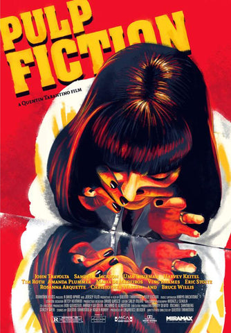 Pulp Fiction - Uma Thurman as Mia Wallace -  Quentin Tarantino Hollywood Movie Poster Collection