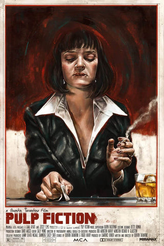 Pulp Fiction - Uma Thurman as Mia Wallace - Tallenge Quentin Tarantino Hollywood Movie Art Poster Collection