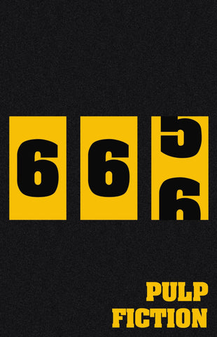 Pulp Fiction 666 - Tallenge Quentin Tarantino Hollywood Movie Minimalist Poster Collection