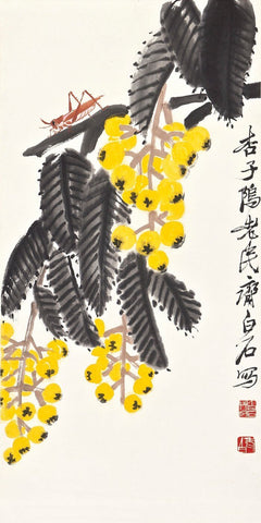 Loquats and mantis - Qi Baishi