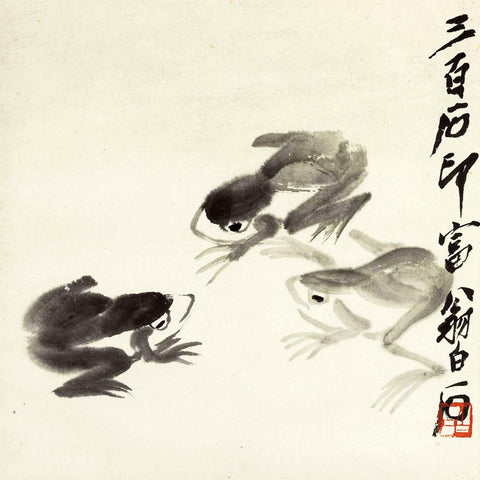 Three Frogs II - Qi Baishi
