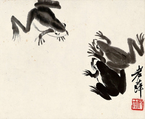 Three Frogs - Qi Baishi