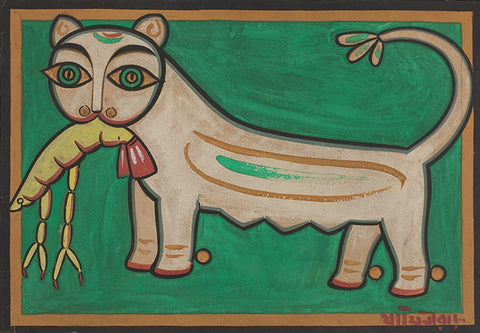 Cat And Lobster - Jamini Roy