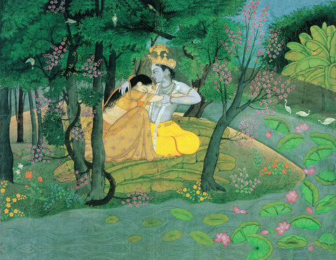 Radha and Krishna in the Grove - Life Size Posters