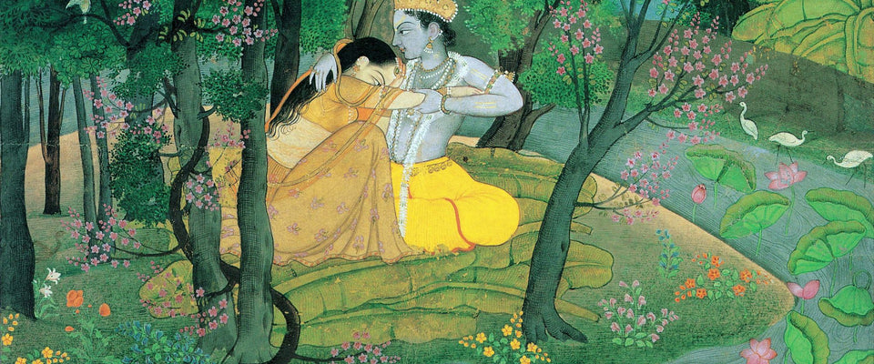 Radha and Krishna in the Grove by Anonymous Artist | Buy Posters, Frames, Canvas  & Digital Art Prints