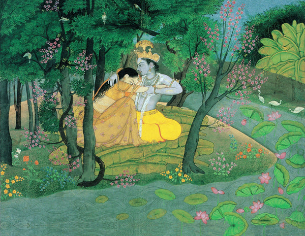 Radha and Krishna in the Grove - Canvas Prints