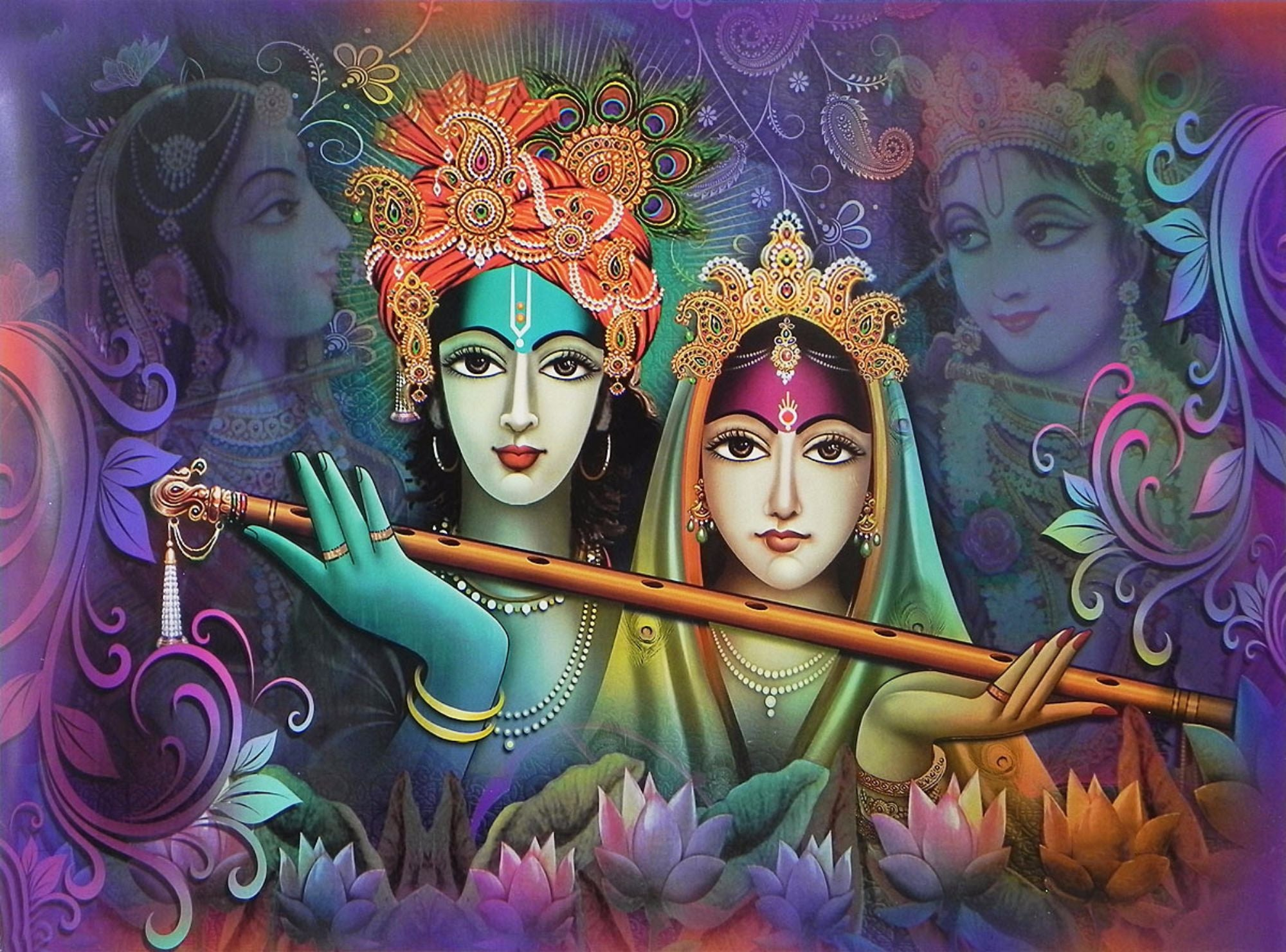 radha krishna spiritual love framed prints by raghuraman buy