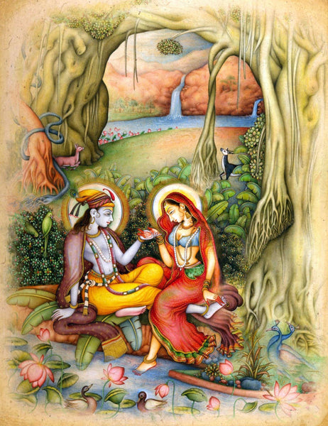 Radha Krishna in Trance - Framed Prints