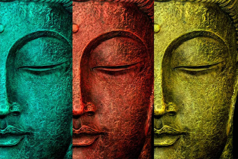 Rainbow Buddha Contemporary Art Print