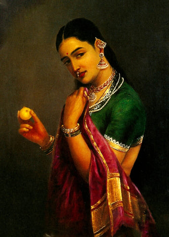 The Coquette by Raja Ravi Varma