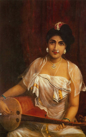 Lady Playing The Veena - Posters